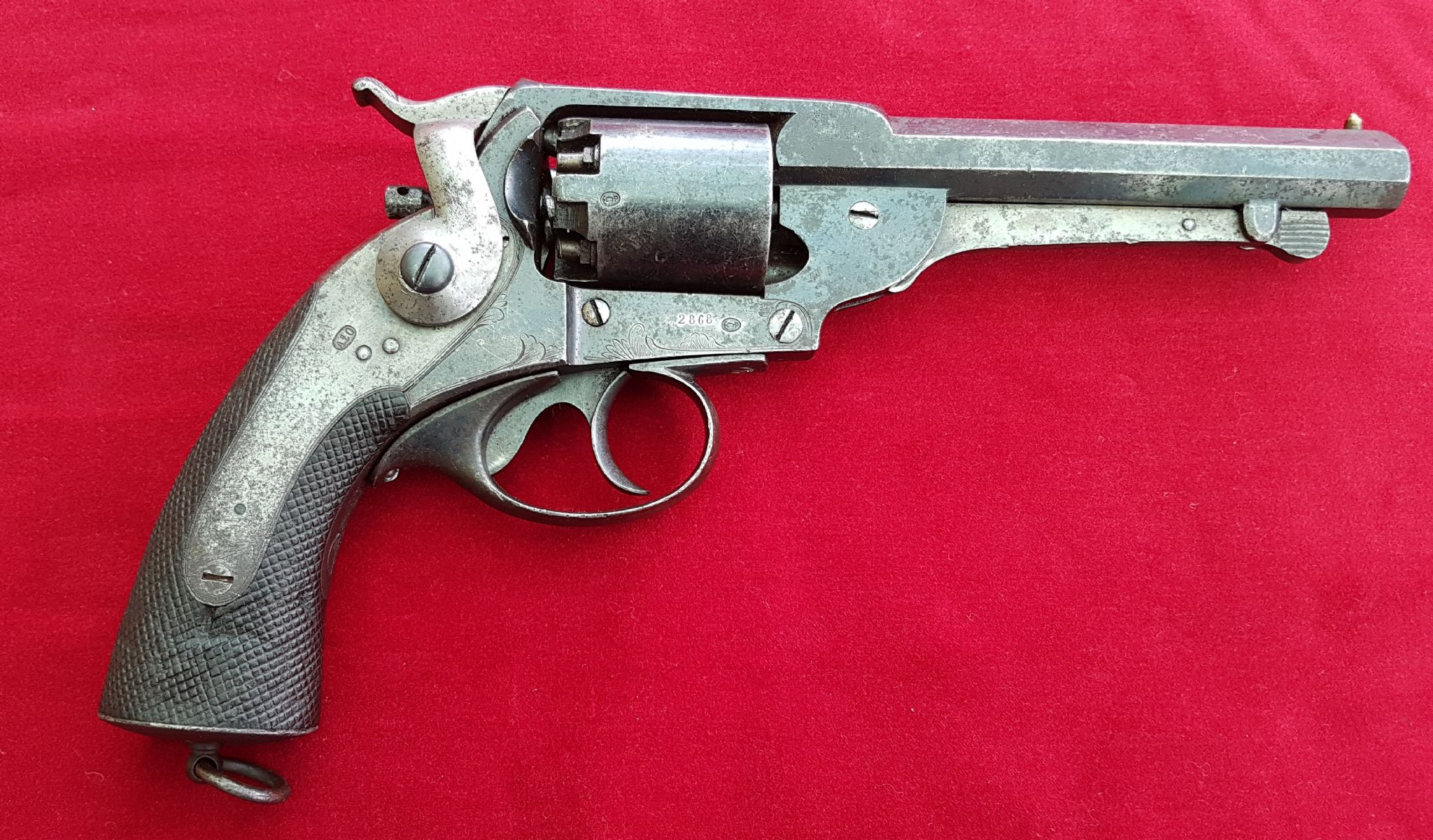 X X X SOLD X X X KERR S patent antique percussion revolver with